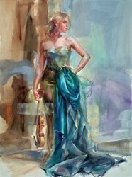 Aspiration III by Anna Razumovskaya -  sized 36x48 inches. Available from Whitewall Galleries